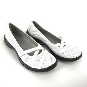 Clarks White Privo Shoes